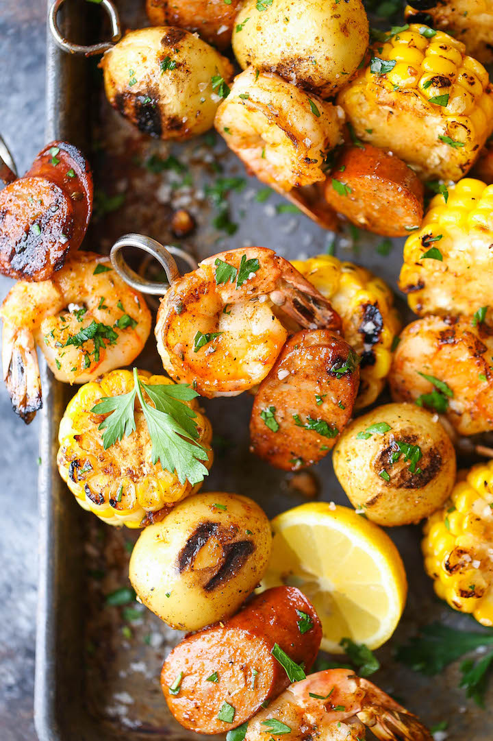 Shrimp Boil Kabobs - The classic shrimp boil is transformed into the ...
