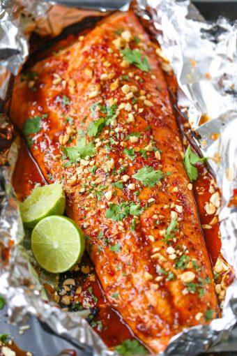 Thai Salmon in Foil