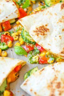 Zucchini Corn Quesadillas