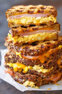 Ham Egg and Cheese Grilled Cheese