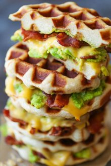 Bacon and Avocado Waffle Grilled Cheese