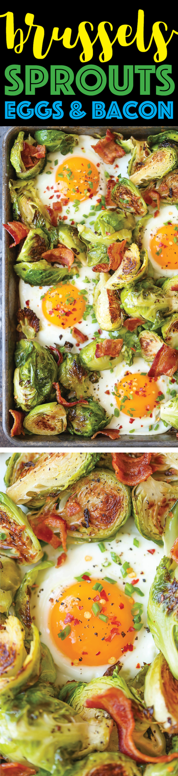Brussels Sprouts, Eggs and Bacon - A complete sheet pan breakfast with ...
