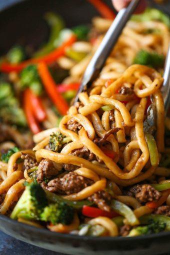 Ground Beef Noodle Stir Fry