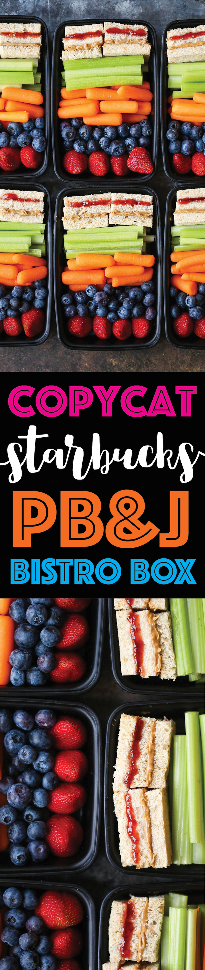 Copycat Starbucks PB&J Bistro Box - Save money and make your own meal prep boxes with everyone's favorite peanut butter and jelly whole wheat sandwiches!