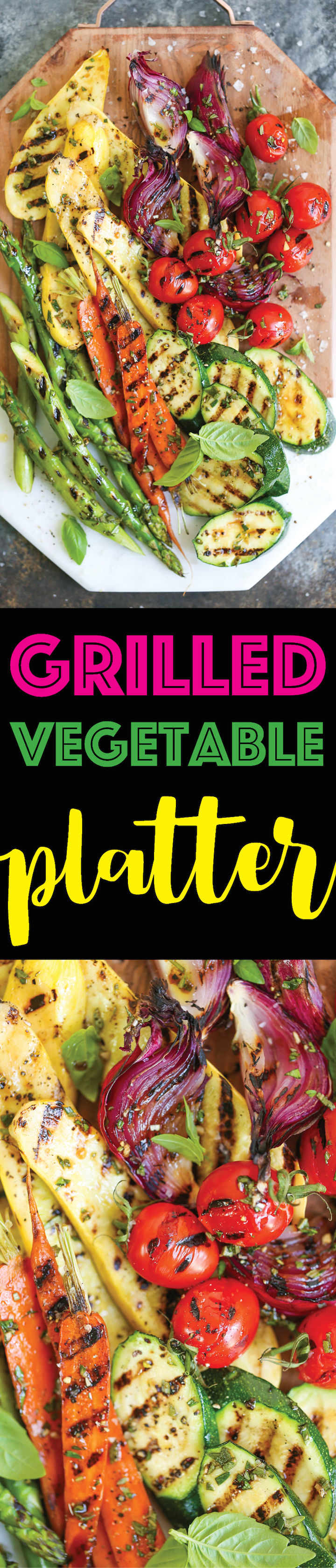 Grilled Vegetable Platter - How to assemble the most AWESOME vegetable platter! No more sad-looking veggies! This is so easy and perfect for entertaining!
