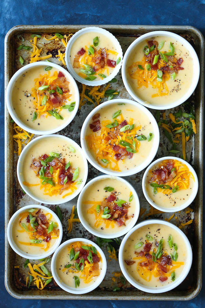 Slow Cooker Loaded Potato Soup - Everyone's favorite comfort food soup in crockpot form! Hands-off and incredibly easy with 15 min prep work! That's it!