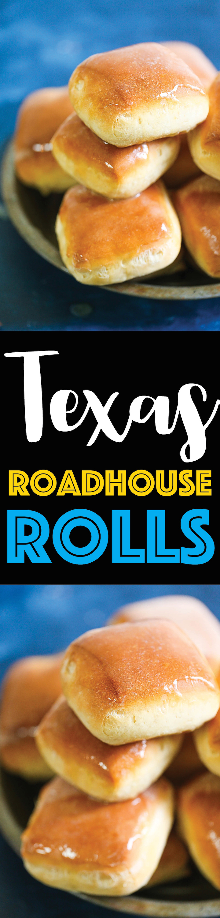 Texas Roadhouse Rolls - Everyone's FAVORITE copycat Texas roadhouse rolls! Yes, you can make them right at home completely from scratch and it is SO MUCH BETTER! It's so amazingly buttery and fluffy! You will only want the homemade version after this!