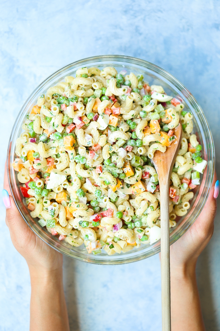 Best Ever Classic Macaroni Salad - The best + easiest old-fashioned macaroni salad to bring to all the BBQs/potlucks! Everyone will be dying for the recipe!