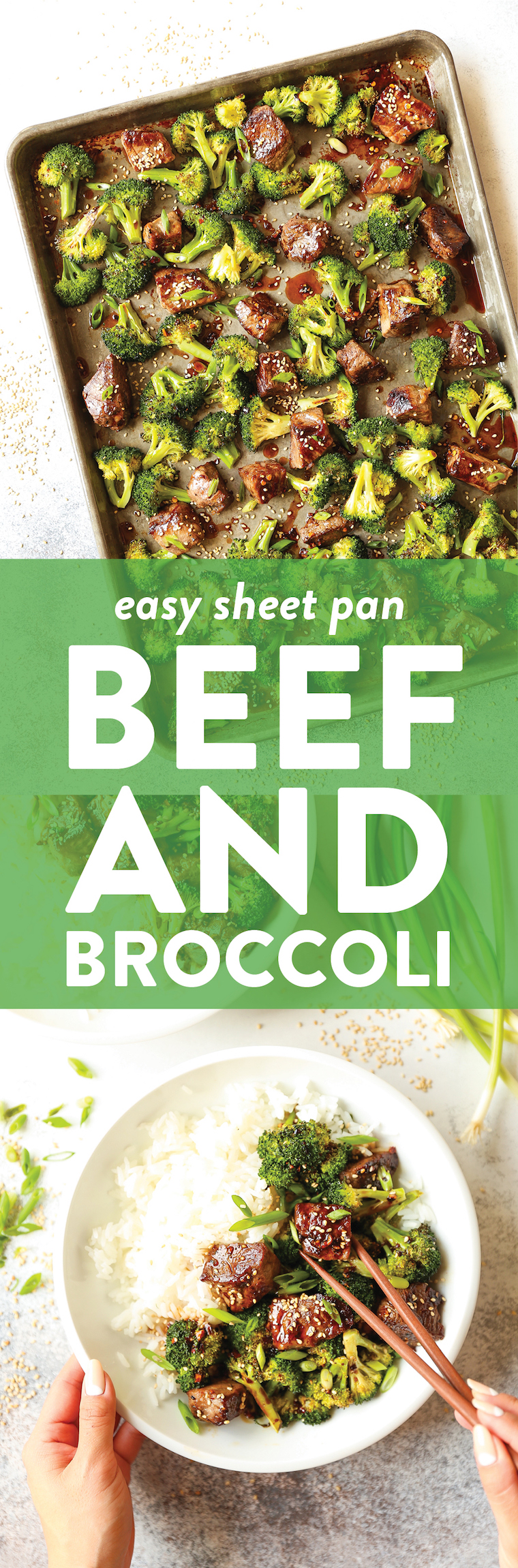 Sheet Pan Beef and Broccoli - Say hello to the easiest beef and broccoli of your life! No fuss, less dishes, yet it's 10000x better than take-out. Win-win!