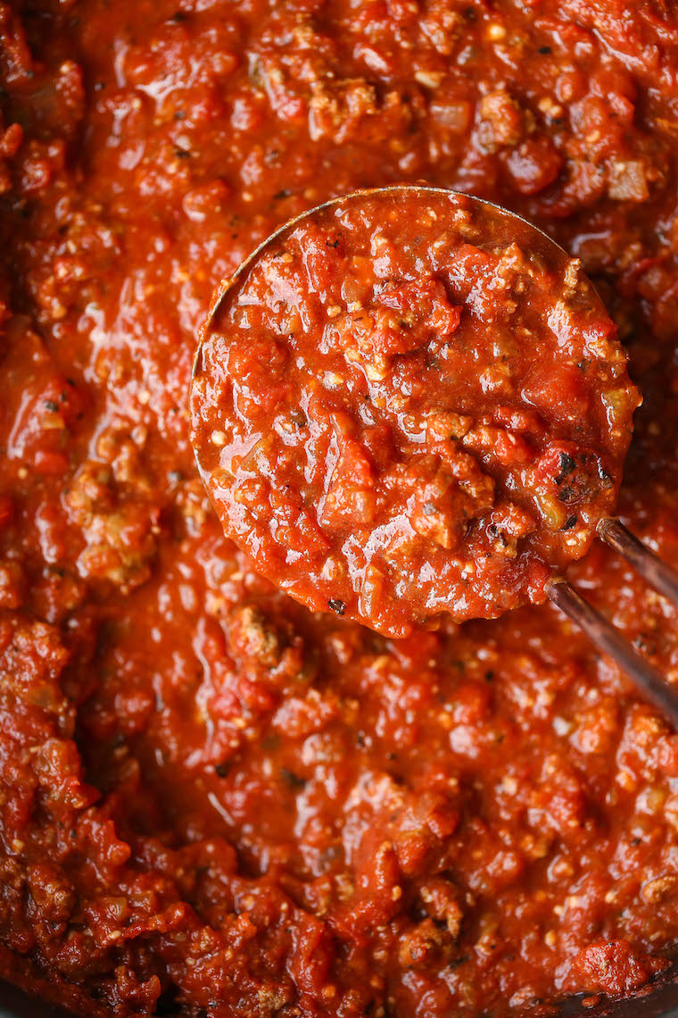 Quick Tomato Sauce - You can skip the jarred sauce! This is super quick, easy, fresh and so so good using pantry staples. Just 30 minutes start to finish!