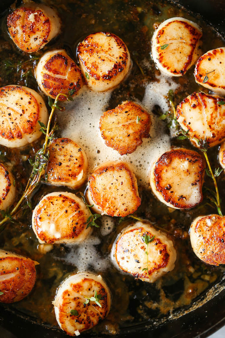 Brown Butter Scallops - Cook the most perfect scallops every. single. time. So fast and easy to make (just 5 ingredients) yet so so fancy!