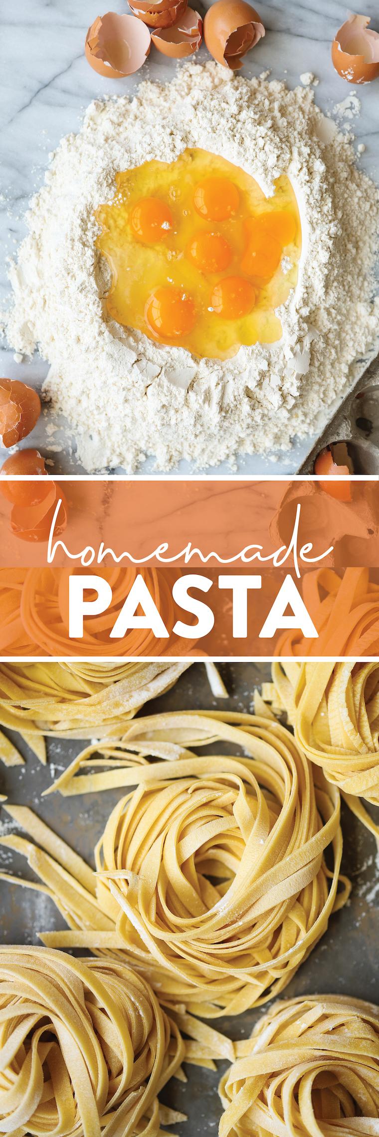 Домашняя паста - Домашнее свежее тесто для макарон!  Все, что вам нужно, это 4 ингредиента, и это невероятно просто (и так универсально).  Идеально подходит для любой формы!