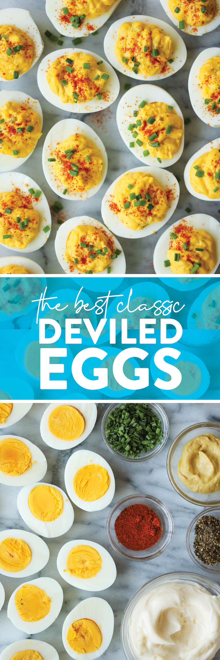 The Best Classic Deviled Eggs - Perfect for holidays and get-togethers. It is such a classic! So good, so creamy and such a crowd-pleaser.